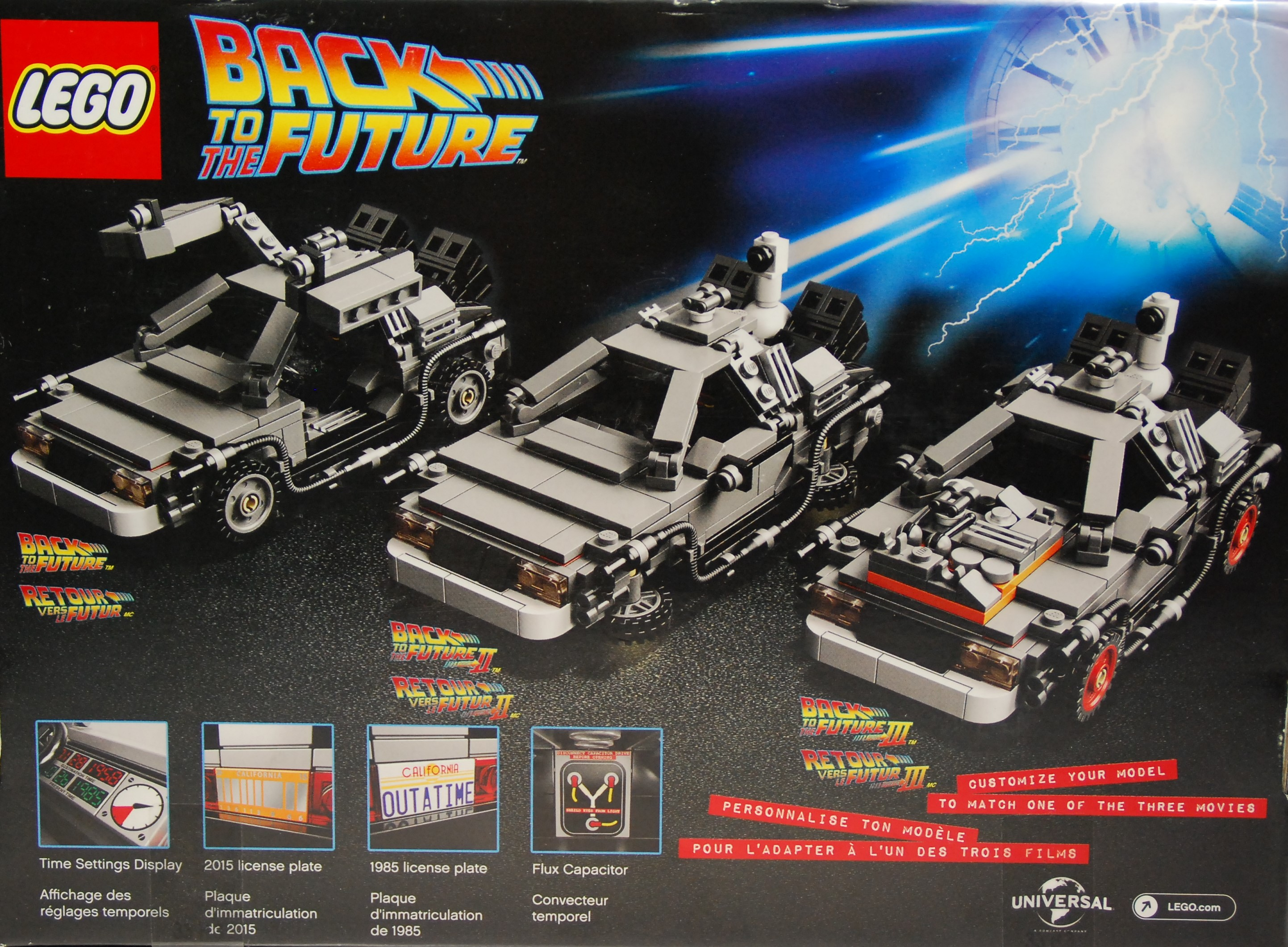 die lego delorean zeitmaschine. Black Bedroom Furniture Sets. Home Design Ideas