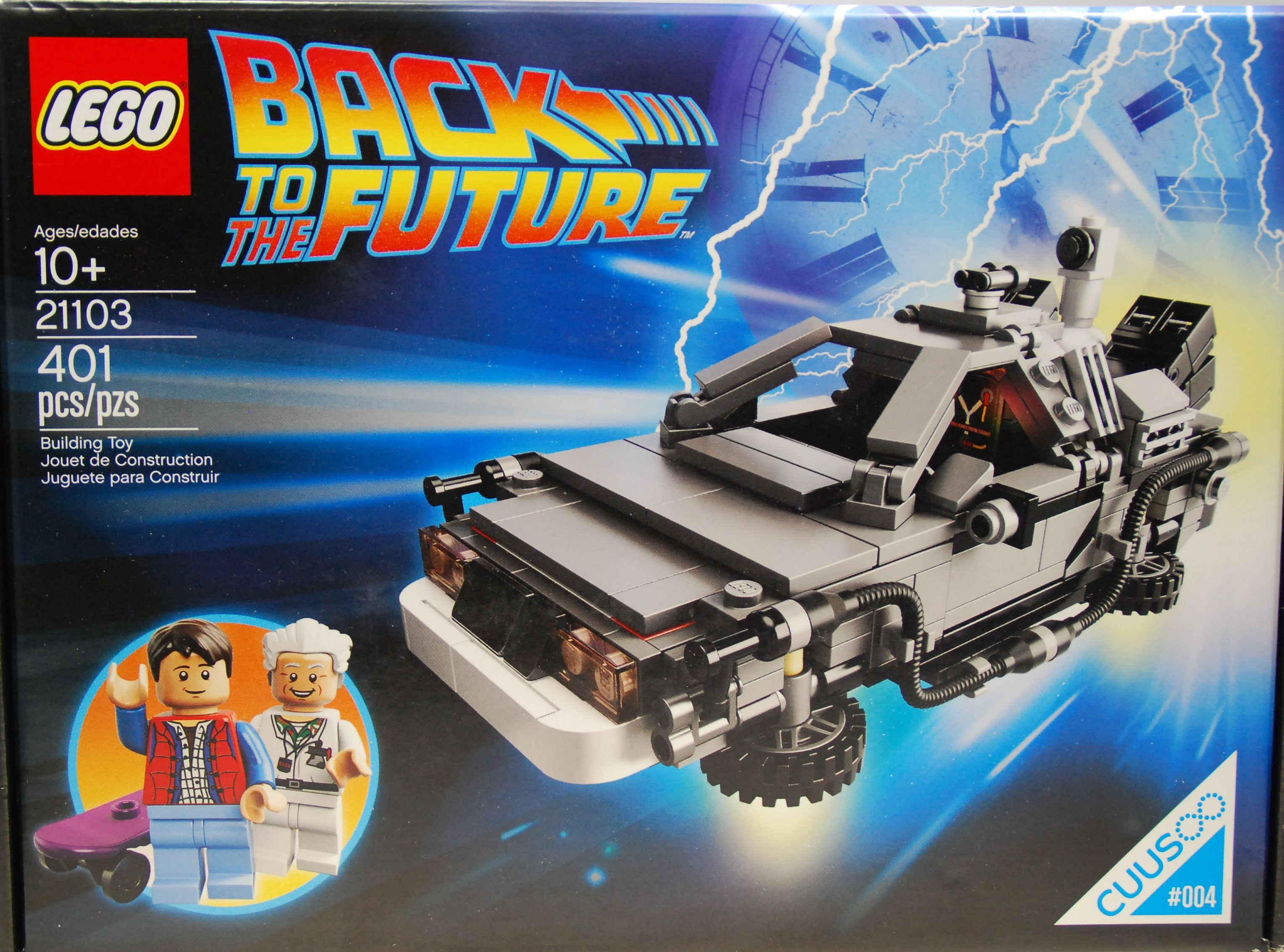 Lego DeLorean Zeitmaschine